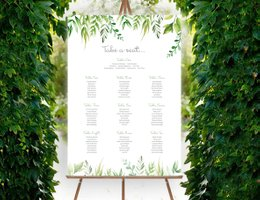 Francesca Norton Wedding Stationery table plan
