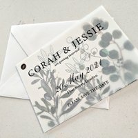 Olive branches double layer save the date - Francesca Norton Wedding Stationery
