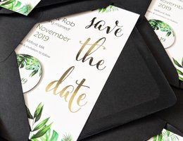 Francesca Norton Wedding Stationery save the date card